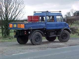 Mercedes Unimog U1100 equipped for mobile cell deployment