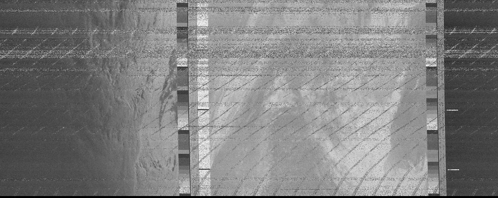 NOAA 18 weather fax received using CCW Broadband Active Antenna